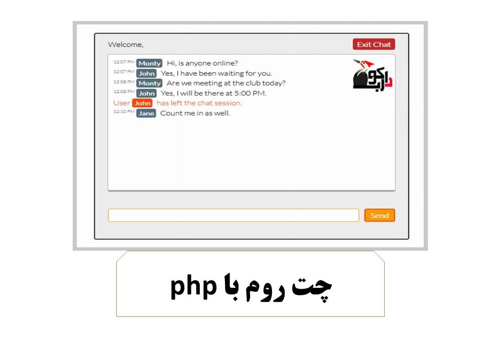 طرح کلی طراحی چت روم با php