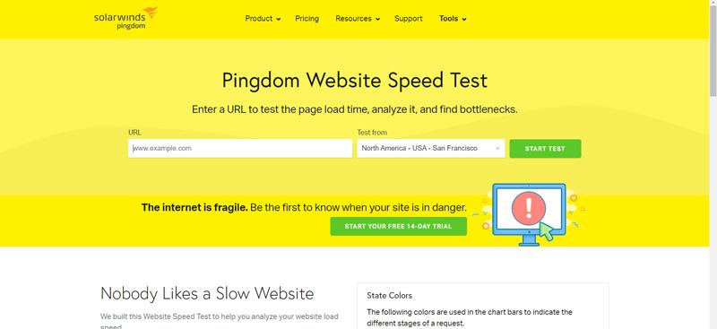 چک کردن سرعت سایت با Pingdom